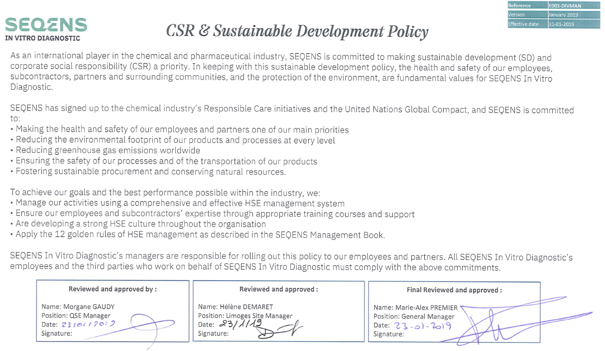 CSR Sustainable Development